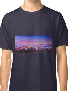 Denver Colorado Skyline With Luminous Rocky Mountains Classic T-Shirt