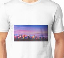 Denver Colorado Skyline With Luminous Rocky Mountains Unisex T-Shirt