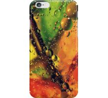 Wet Red Maple  iPhone Case/Skin