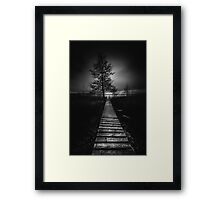 On the wrong side of the lake 9 Framed Print
