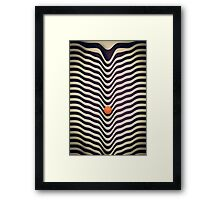 Dot V (melt) Framed Print