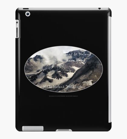 Mount St Helens lava dome closeup oval iPad Case/Skin