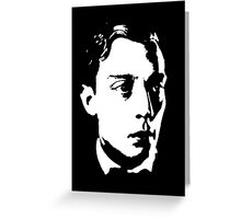 Buster Keaton Stares Off In The Distance Greeting Card