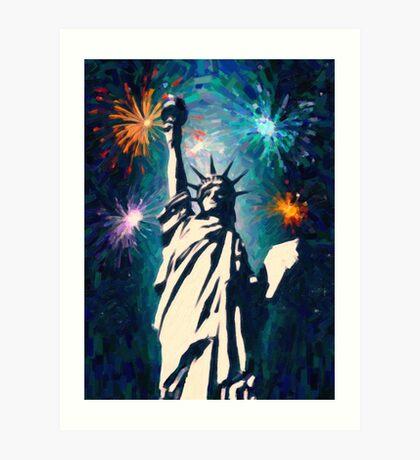 4th of July Fireworks 2 Art Print