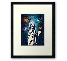 4th of July Fireworks 2 Framed Print