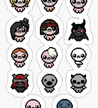 The Binding of Isaac characters + Sticker