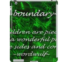 ~boundary~ (snippet) iPad Case/Skin
