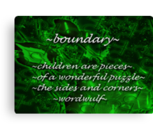 ~boundary~ (snippet) Canvas Print