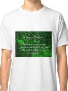~boundary~ (snippet) Classic T-Shirt