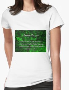 ~boundary~ (snippet) Womens Fitted T-Shirt