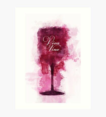 Viva Vino Wine Glass Art Print