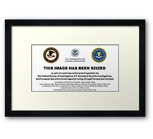 THIS CUSHION HAS BEEN SEIZED Framed Print