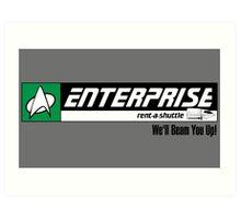 Enterprise Rent-A-Shuttle Art Print