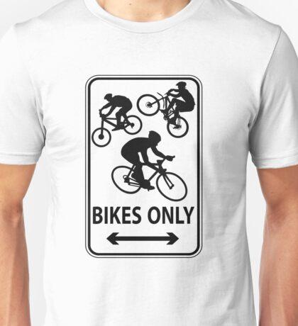 Bikes Only (Transparent) Unisex T-Shirt