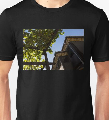 Summer Courtyard - Decorated Eaves and Grape Trellis in the Sunshine Unisex T-Shirt