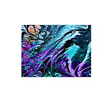 Marbled design in purple turquoise by ExceptionalSilk
