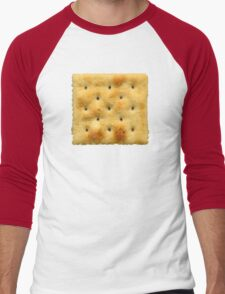 White Saltine Soda Cracker Men's Baseball ¾ T-Shirt