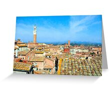 Siena Roofs Greeting Card