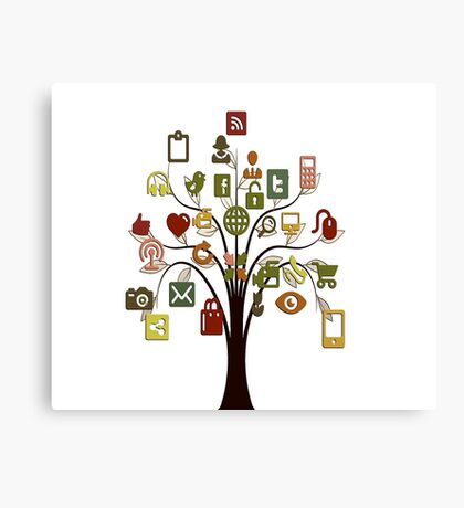 Social Networking Canvas Print