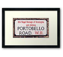 Portobello Road Framed Print