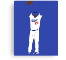 "Kershaw ""No-Hitter"" Canvas Print"
