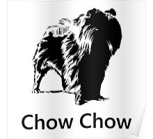 Chow Chow Silhouette Poster