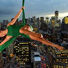 Acrobatics over New York by Carnisch