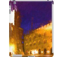 Volterra Tuscany, Piazza Dei Priori By Night iPad Case/Skin