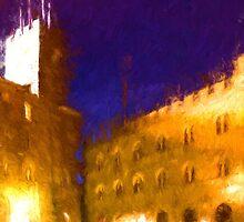 Volterra Tuscany, Piazza Dei Priori By Night by savage1