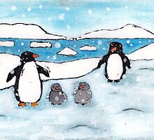 Penguin Family by Anna Davies