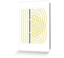 Double Slit Light Wave Particle Science Experiment Greeting Card