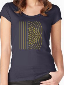 Double Slit Light Wave Particle Science Experiment Women's Fitted Scoop T-Shirt