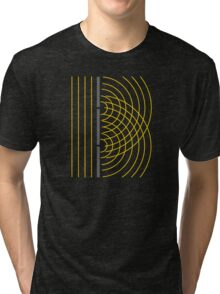 Double Slit Light Wave Particle Science Experiment Tri-blend T-Shirt