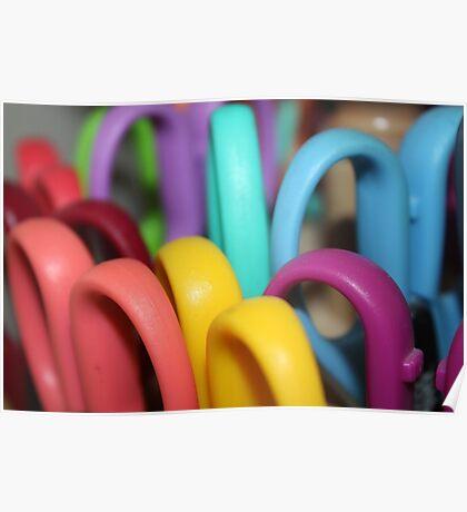 Rainbow Scissors  Poster