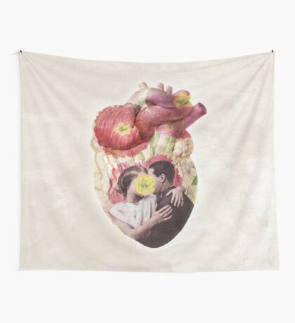 You Are In My Heart - floral version Wall Tapestry