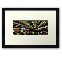 Under the bridge! Framed Print