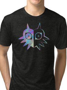 Majora's Mask Half Color Tri-blend T-Shirt