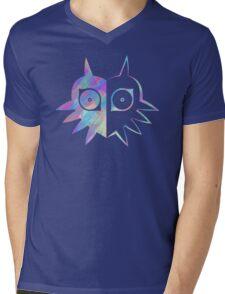 Majora's Mask Half Color Mens V-Neck T-Shirt