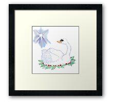 Christmas Swan Framed Print