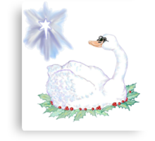 Christmas Swan Canvas Print