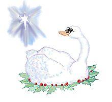 Christmas Swan Photographic Print