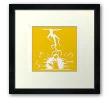 PokeGod of Thunder Framed Print