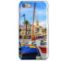 Traditional boats in port of Sanary-sur-Mer , Var, France iPhone Case/Skin