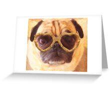 pug 3 Greeting Card
