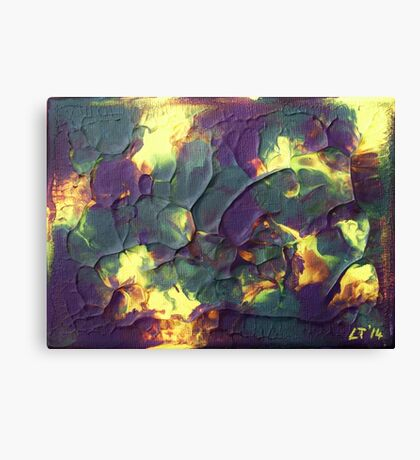 """Crystallised"" original abstract artwork by Laura Tozer Canvas Print"