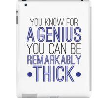 Sherlock the genius  iPad Case/Skin