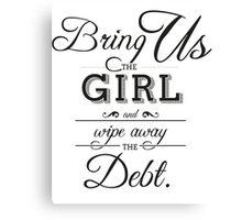 Infinite Debt Canvas Print