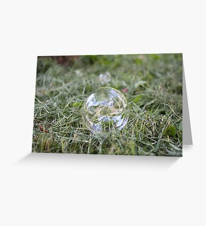 Bubble on Cut Grass Greeting Card