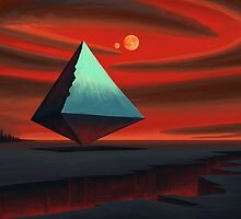Moon Pyramid by Remus Brailoiu