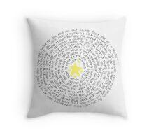 """Yellow"" Spiraled Lyrics Throw Pillow"